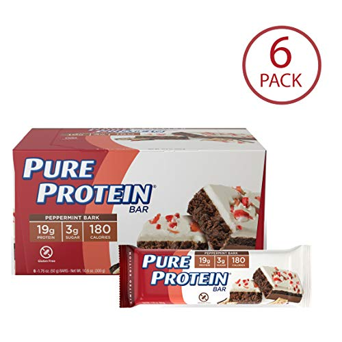 Pure Protein Bars, Gluten Free, Peppermint Bark, 1.76 oz, 6 Count