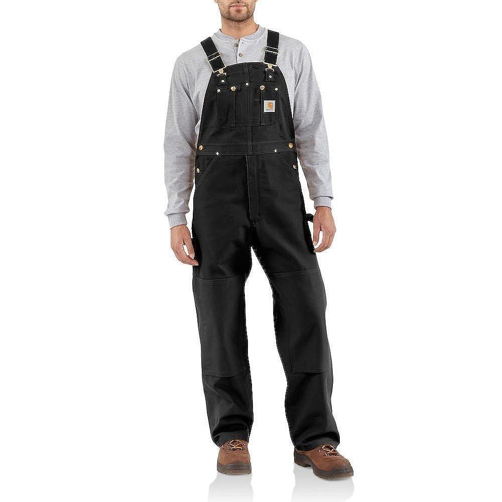 Carhartt Mens Men's Duck Bib Overalls Unlined Solid Overalls/Coveralls Carhartt Sportswear - Mens R01