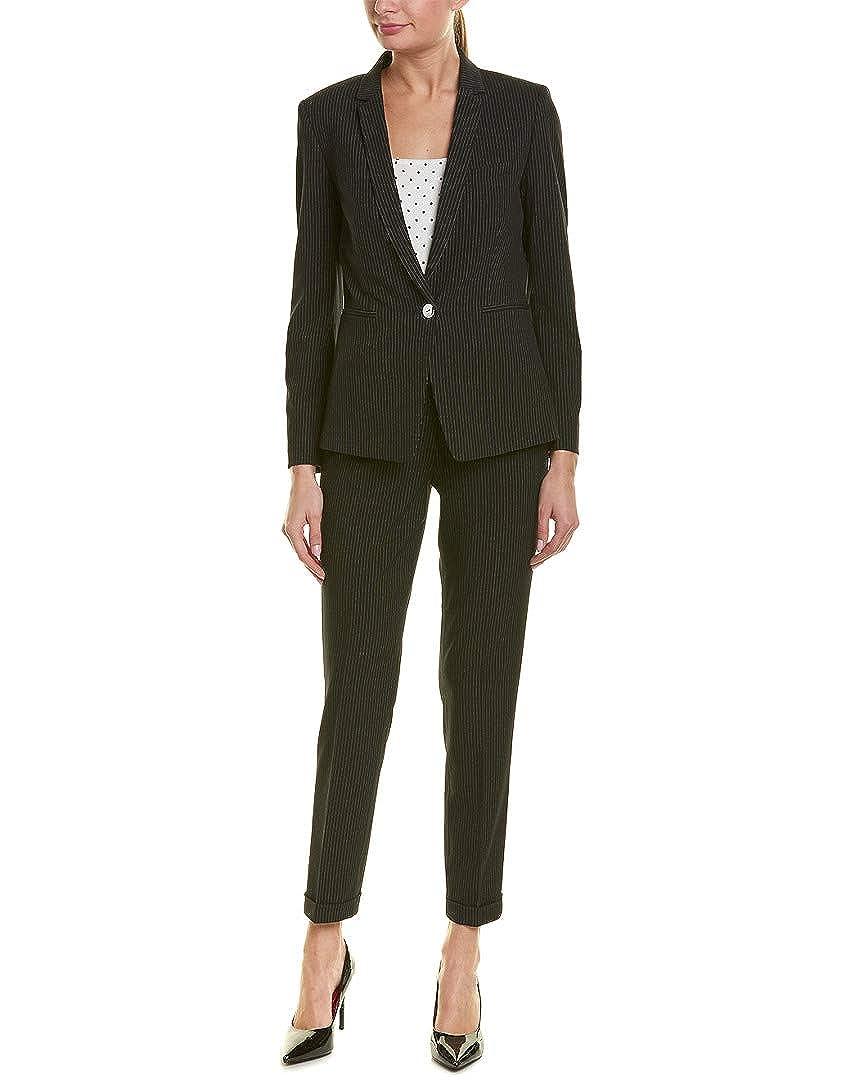Tahari by ASL Womens Pinstripe Jacket Pants Suit