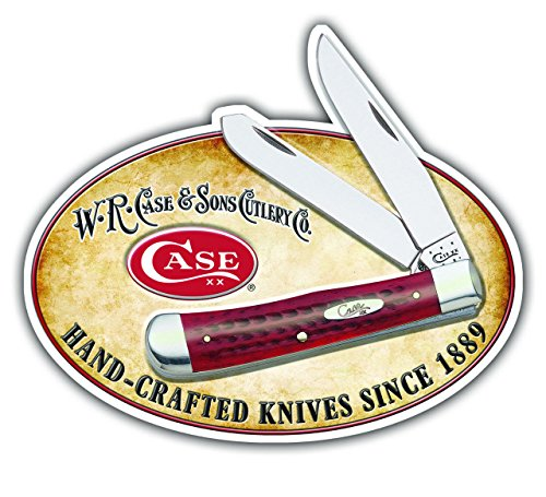 (CASE XX 50180 Knife Accessories 30 x 25 Tin Sign w/Trapper and)