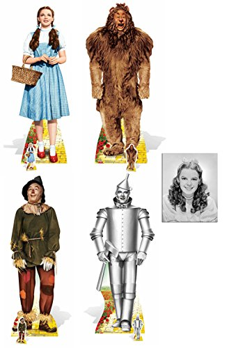 Wedding Wizard Of Oz - Fan Pack - Wizard of OZ Set of 4 Lifesize and Mini Cardboard Cutout Collection Standee / Standup - Includes 8x10 Star Photo