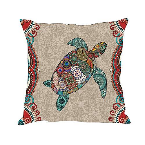 Tom Boy Boho Turtle Throw Pillow Covers Decorative Ocean Sea