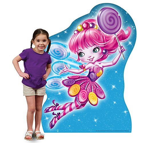 3 ft. 10 in. Candy Land Lolly Standee Standup Photo Booth Prop Background Backdrop Party Decoration Decor Scene Setter Cardboard Cutout]()