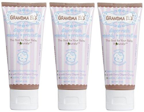 Érythème fessier Remedy Cream Grandma El, deux once, Pack 3