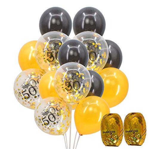 50th Birthday Balloons - 12