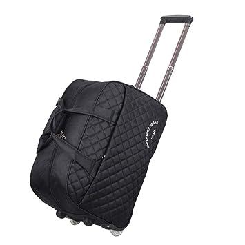 WQING Bolso Bolsa de Viaje con Ruedas Equipaje Maleta con Ruedas Weekender Trolley Bag24 Pulgadas para Mujeres y Hombres,Black: Amazon.es: Deportes y aire ...