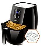 Digital Air Fryer Touchscreen by Cozyna (3.7QT) with 2 airfryer cookbooks and a skewer rack accessory