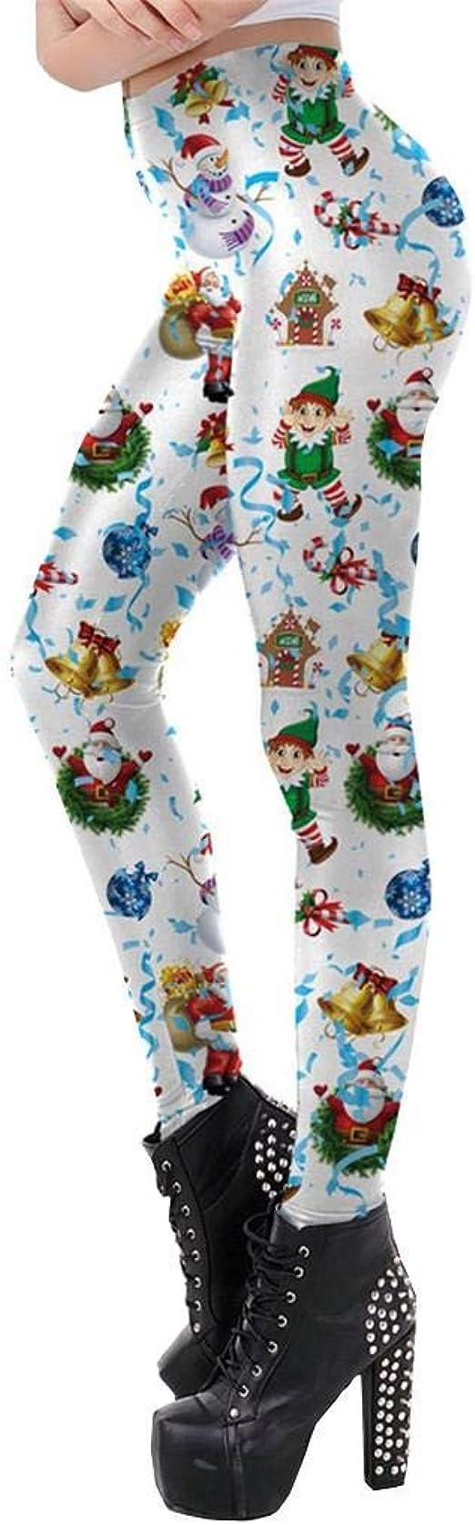 SHOBDW Pantalones Deportivos Mujeres Navidad Papá Noel ...