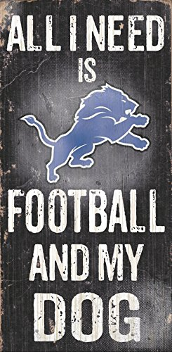 Fan Creations Detroit Lions Football and My Dog Sign, Multicolored