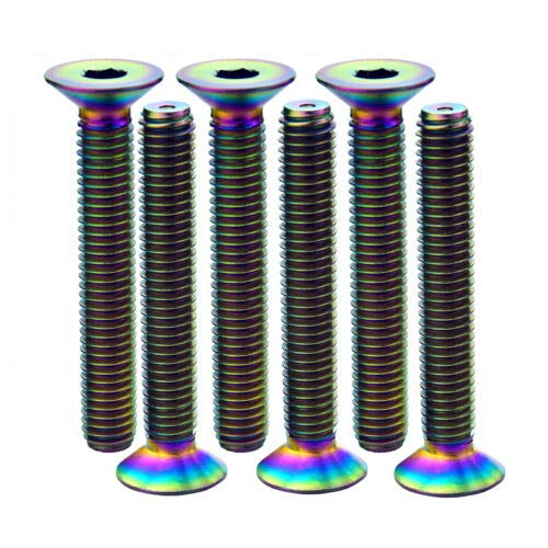 6X MCTi Colorful M6X40 MTB 6AL//4V Titanium Alloy Gr5 Countersunk Head Bolts