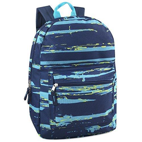 17'' Trailmaker Backpack Bookbag, Blue Stripes by Trail maker (Image #1)