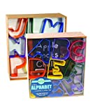 R&M International 1800 Alphabet 3'' Cookie Cutters, Assorted Colors, 26-Piece Set