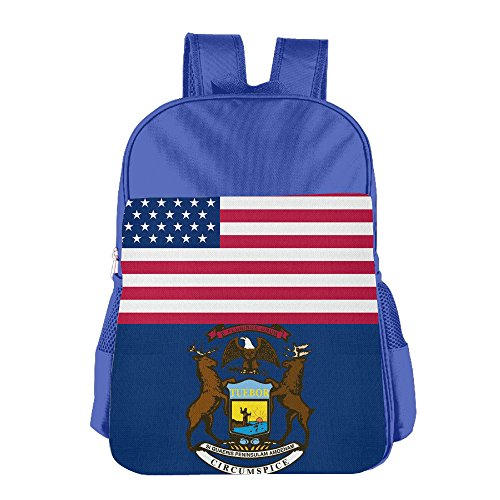 Price comparison product image ColorSee Usa Michigan Flag Daypack Kids School Bag Boys Girls Backpack