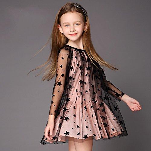 XIU*RONG Las Niñas Visten Vestido Vestido Y En Primavera Y Verano Pink