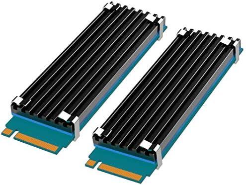 Read more about the article glotrends [2 Packs] M.2 Kuehler M.2 Kühler für 2280 M.2 SSD mit Silikon-Wärmeleitpad