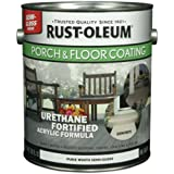 RUST-OLEUM 248169 Gallon Pure White and Pastel Tint Base Semi-Gloss Porch and Floor Urethane Finish