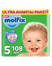 Molfix 3D Bebek Bezi, Junior 5 Beden, Ultra Avantaj Paketi, 108 Adet