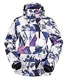 Andorra Women Insulated Windproof Mountain Hiking Snowboarding Jacket,Retro Violet Grunge,M