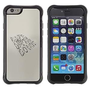 Suave TPU Caso Carcasa de Caucho Funda para Apple Iphone 6 PLUS 5.5 / Life Is A Series Message / STRONG