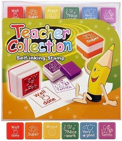 Lot de 6Self encrage Tampon école professeur récompense Classroom bien fait timbres Henbrandt