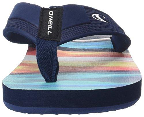 O'Neill Fm Imprint Pattern Flip Flops 7a4522 - Chanclas Hombre Blau (Blue Allover Print W/ YELLOW OR ORANGE)