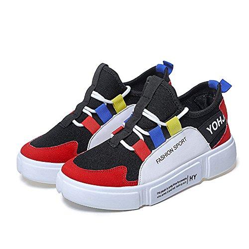 Comode Sneakers Unica Alla Moda A Da Jerfer Rosso Ginnastica Scarpe Casual Con Piattaforma E 1ATg8zq