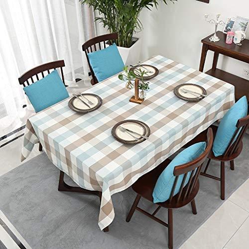 ZHAS Estovalles impermeable de roba de cotó Rectangular, coberta de taula Simple patró de Tira de Tela escut, encenedor antilliscant, per a tauleta de sala d'estar (Color: A, Mida: 140 180) (Skins Passt)
