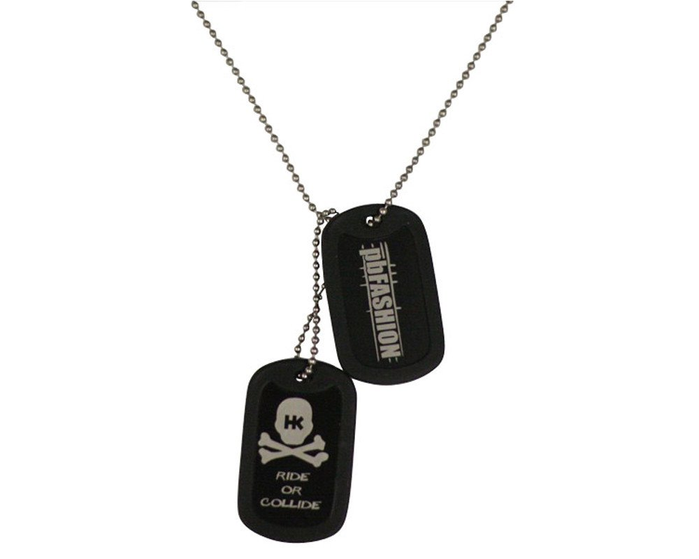 Black HK Army Dog Tags Black