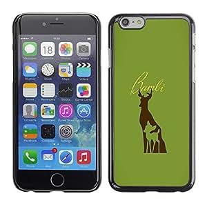SKCASE Center / Funda Carcasa - Bambe ciervos;;;;;;;; - iPhone 6