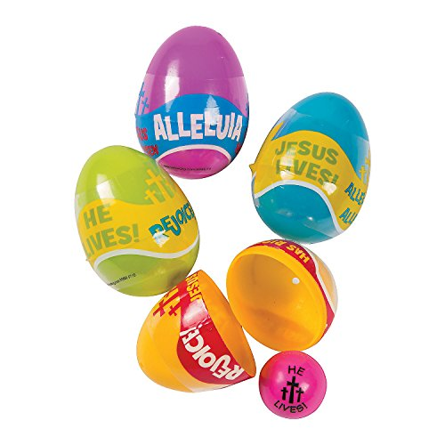 Religious Phrases Bouncing Ball-Filled Easter Eggs (Easter Phrases)