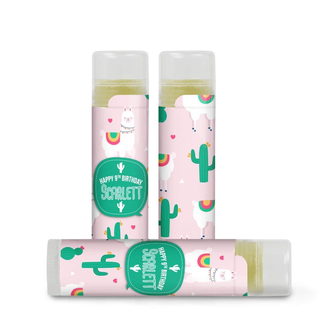 Llamas /& Cacti Lip Balm Favor Labels set of 24 Stickers