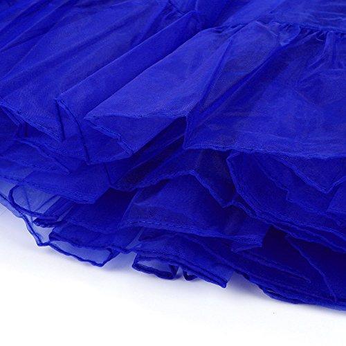 vintage Tutu Jupon longueur en 50 Cabaret Petticoat annes Rockabilly Retro Crinoline Bar Sunenjoy tulle Bleu Chic Long Rockabilly Dguisement Danse Ballet Soire Jupon Petticoat Party vwatAqp4
