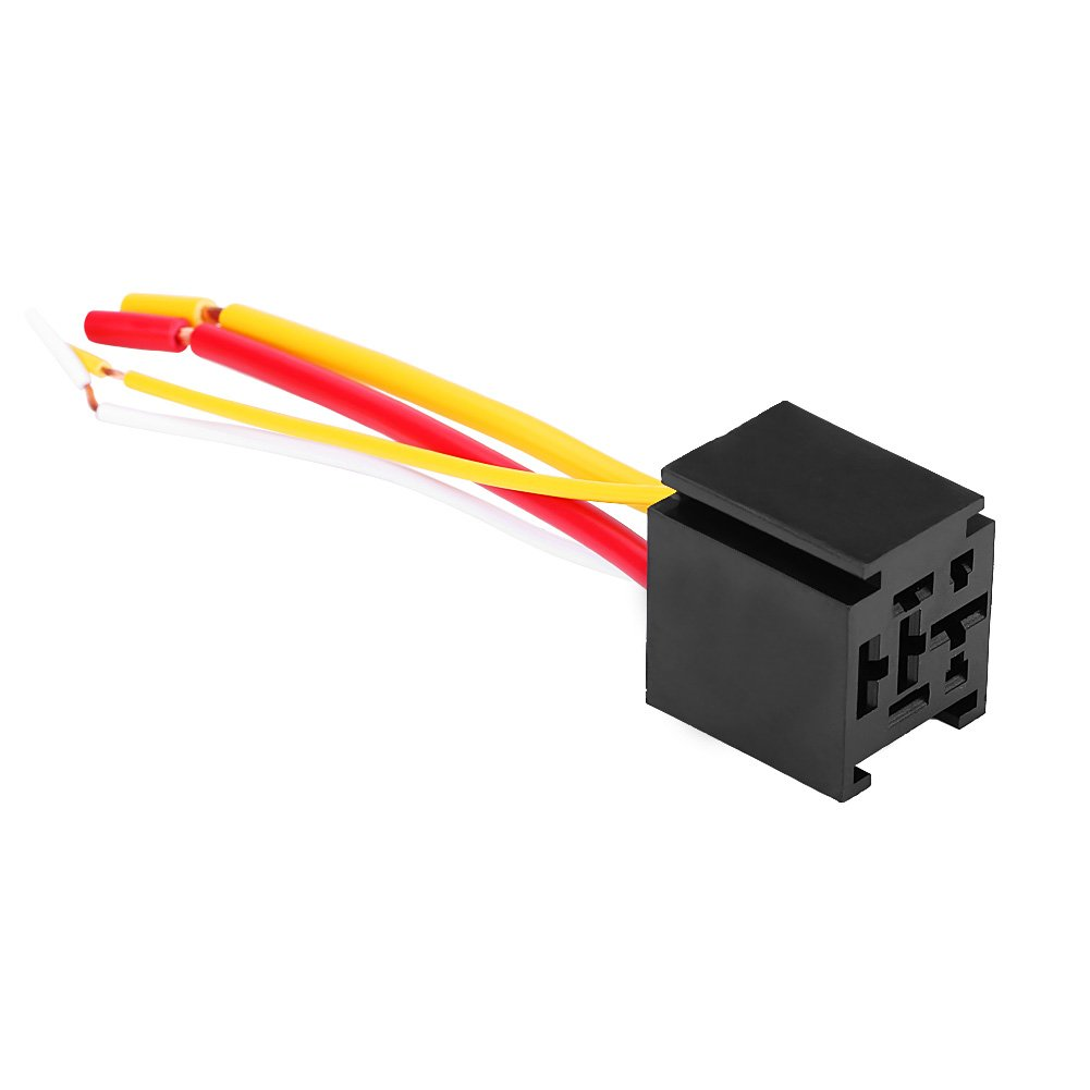 Liukouu 5Pcs 12V//24V 80A 4-Pin Car Auto Automobile Relay /& 4 Pins Socket with Wire 24V
