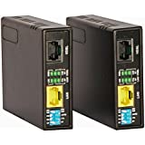 Tupavco Ethernet Extender Kit - 2pc Pair TEX-100 - Range up to 1 Mile/7000FT over Phone Copper Wire or CAT5/CAT6 Network Cable -VDSL2 Lan Booster Bridge Repeater-VDSL High Speed Broadband 100 Mbps