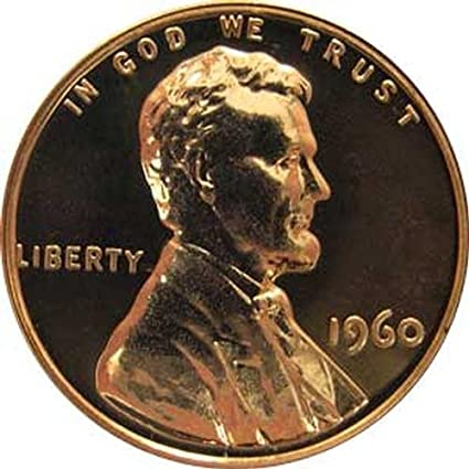 1960-P Large Date  LINCOLN MEMORIAL CENT PENNY BU 50 COIN ROLL COPPER