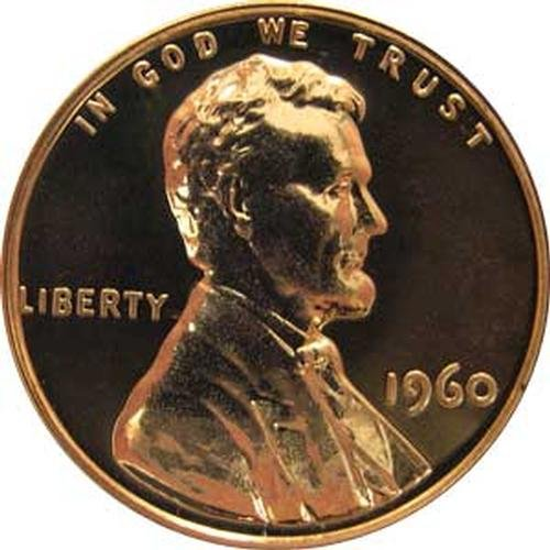 1960 (LARGE DATE) P Gem Proof Lincoln Memorial Cent US Coin Penny (Memorial Proof)