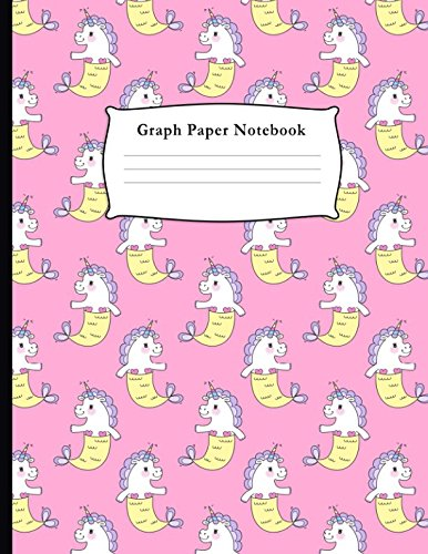 Graph Paper Notebook: Mermicorn Pattern Quad Ruled 4 x 4 (.25'') Composition Book for Math & Science Students and Teachers