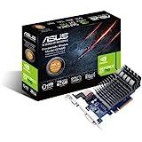 ASUS GT 710 2GB DDR3 64bit Dual Slot, Passive Low Profile Graphics Cards, Blue/Silver 710-2-SL-CSM