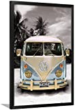 Californian Camper Black Framed Poster With Mat 38x26