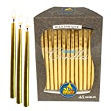 Toys : Ner Mitzvah Gold Metallic Dripless Chanukah and Birthday Candles - Standard Size Fits Most Menorahs - Premium Quality Wax - 45 Count for All 8 Nights of Hanukkah