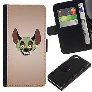 UNIQCASE - Apple Iphone 6 4.7 - Funny Laughing Hyuena - Cuero PU Delgado caso cubierta Shell Armor Funda Case Cover