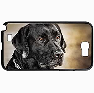 Personalized Protective Hardshell Back Hardcover For Samsung Note 2, Dog View Friend Design In Black Case Color