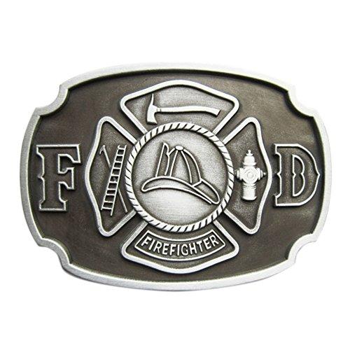 Firefighter Belt Buckle (New Vintage Fire Hero Firefighter FD Belt Buckle also Stock in US)