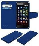 Acm Mobile Leather Flip Flap Wallet Case for Micromax Bolt D320 Mobile Cover Blue