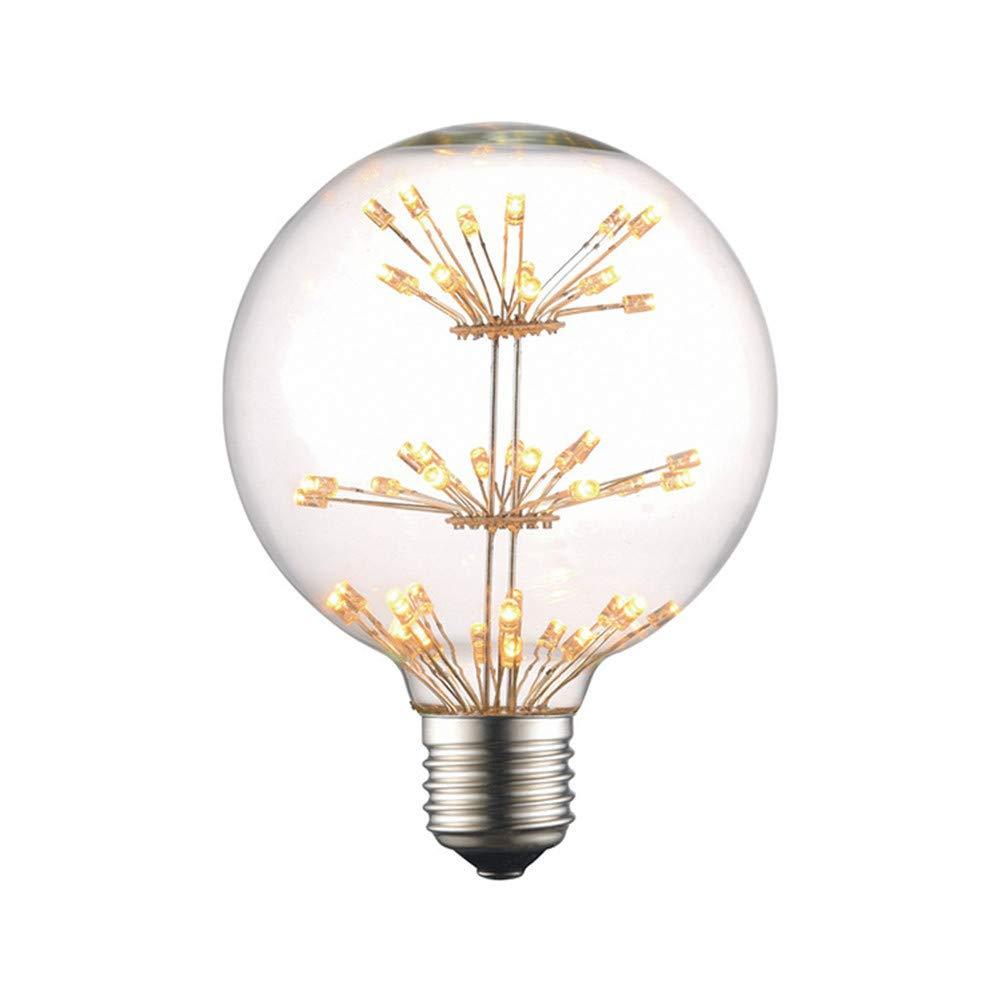 MEIQIQ Vintage Edison Light Bulbs Old Fashioned Style Incandescent Bulb G95 Gypsophila Edison Vintage LED Girard Bulb Fire Tree Silver Flower Festival Decorative Bulb Retro Decorative Light Bulbs