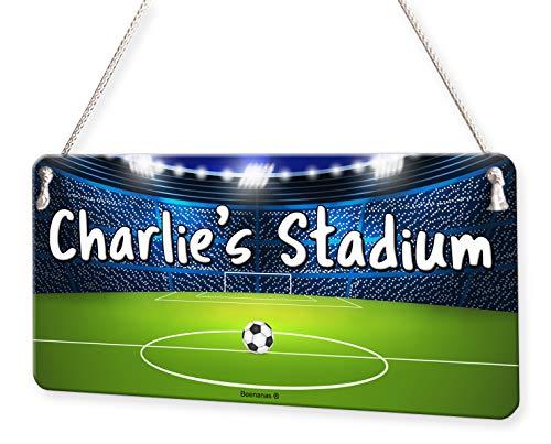(Football Stadium Personalised Childs Bedroom Door Sign Name Plaque)