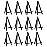 eBoot 12 Pieces 6.25 Inch Mini Wood Display Easel, Black