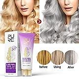 Meiyiu Blonde Purple Toning Hair Shampoo Blonde Shampoo Gray Silver Shampoo Long Lasting