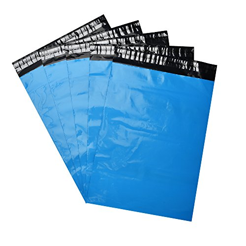SJPACK 10x13 Blue Poly Mailers 2.5 Mil Envelopes Plastic Shipping Bags With Self Sealing Strip