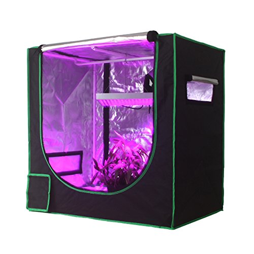 Growsun 3x2 Hydroponic Mini Seedling Grow Tent 36x24x36 Mylar Reflective Indoor Grow Room